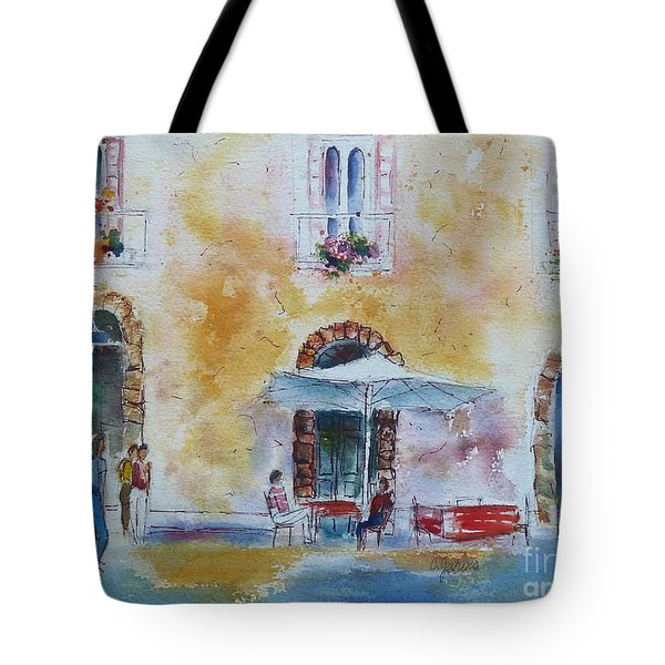 Italian Piazza Tote Bag