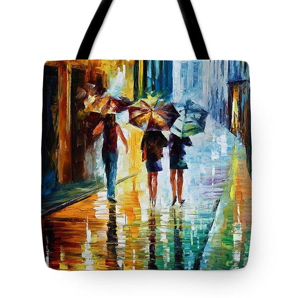 Italian Rain Tote Bag by Leonid Afremov