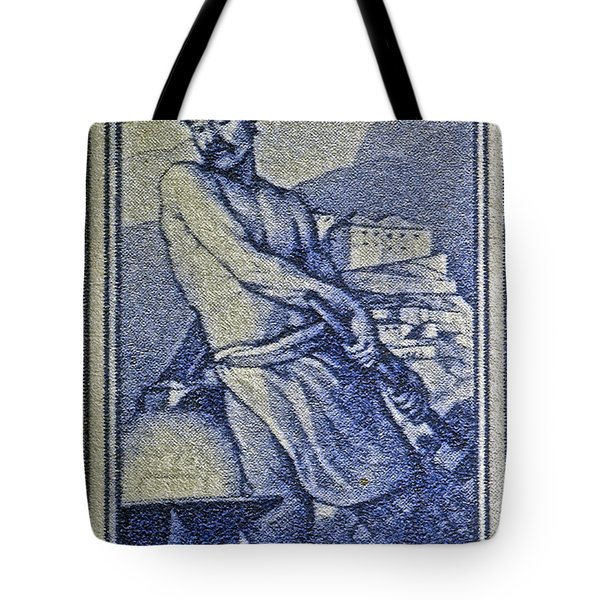 Italian Stamp - Circa 1955  Tote Bag by Bill Owen