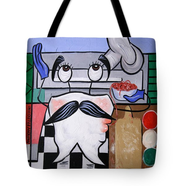 Italian Tooth Tote Bag by Anthony Falbo