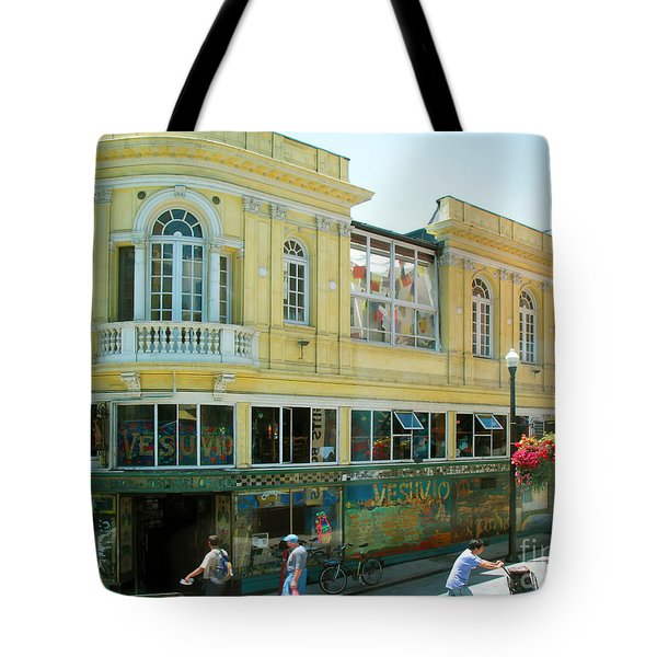 Tote Bag featuring the photograph Italian Town In San Francisco by Connie Fox