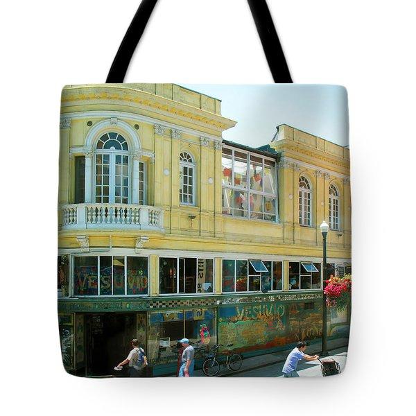 Italian Town In San Francisco Tote Bag by Connie Fox