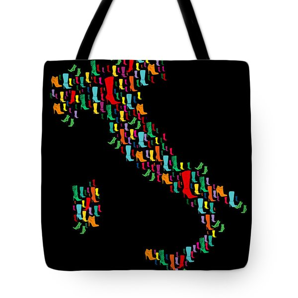 Italy Map  Tote Bag by Mark Ashkenazi