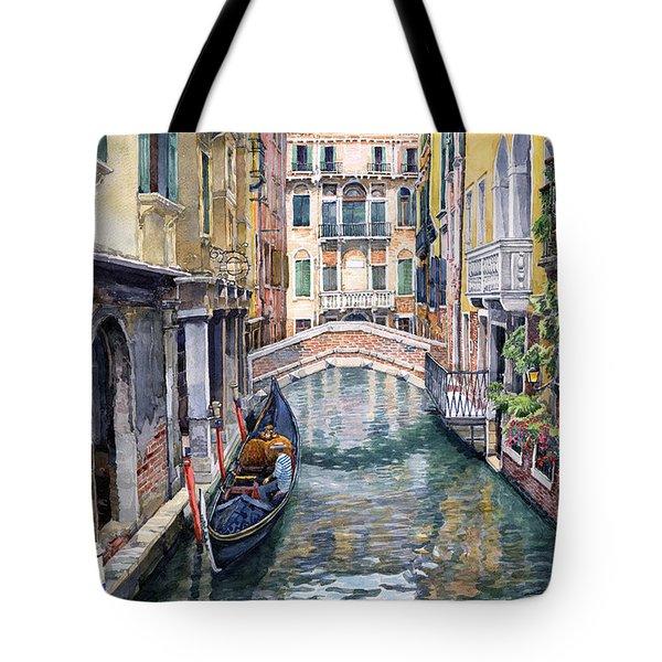 Italy Venice Trattoria Sempione Tote Bag by Yuriy Shevchuk