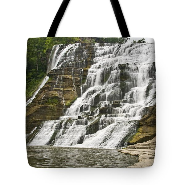 Ithaca Falls Tote Bag by Anthony Sacco