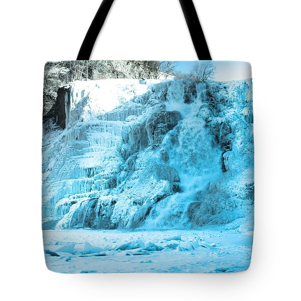 Ithaca Falls In Winter Tote Bag