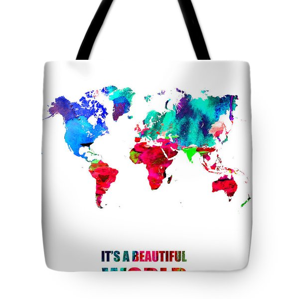 It's A Beautifull World Poster Tote Bag
