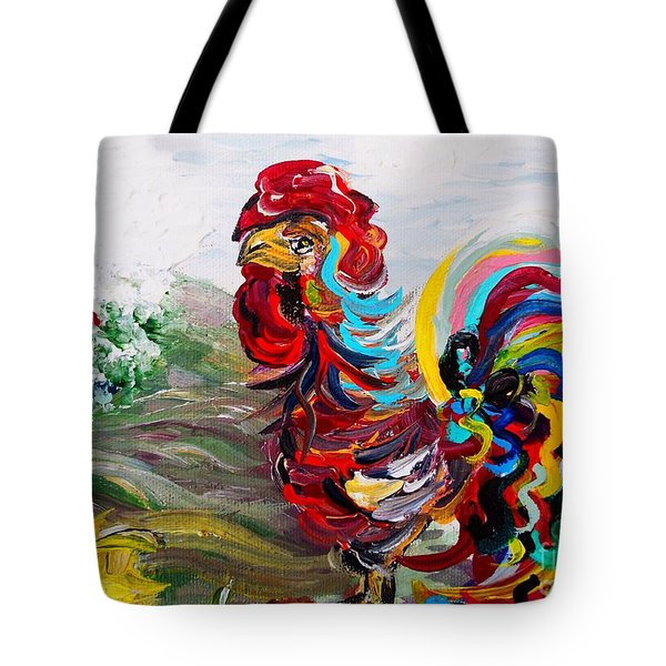 It's A Cockadoodle Do Morning Tote Bag by Eloise Schneider