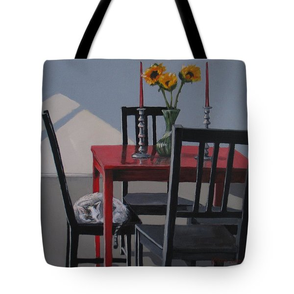 Tote Bag featuring the painting Its A New Day by Karen Ilari