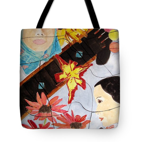It's A Puzzle Tote Bag by Sandy McIntire