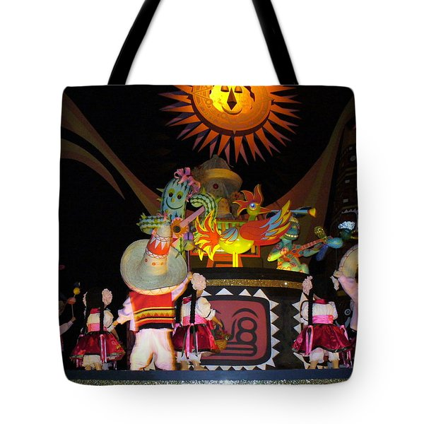 It's A Small World With Dancing Mexican Character Tote Bag by Lingfai Leung