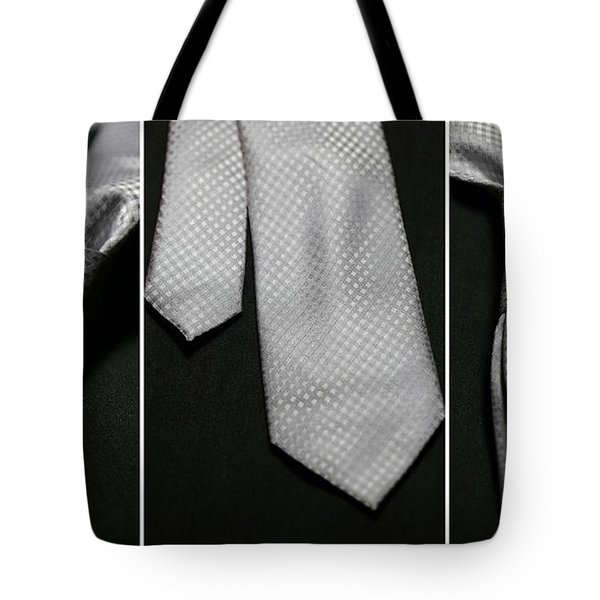 Tote Bag featuring the photograph It's A Tie - Triptych by Trish Mistric