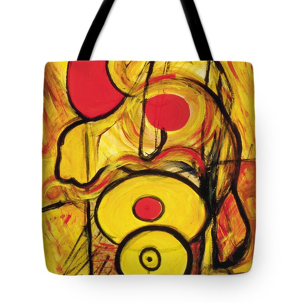Tote Bag featuring the painting It's All Relative by Stephen Lucas