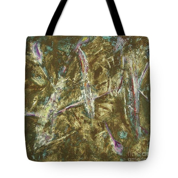 Tote Bag featuring the painting It's Crazy Out There by Mini Arora