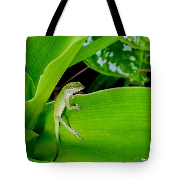 It's Easy Being Green Squared Tote Bag by TK Goforth