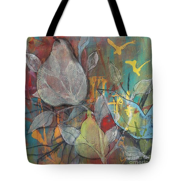 Tote Bag featuring the painting It's Electric by Robin Maria Pedrero