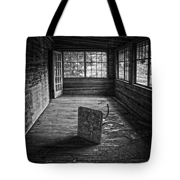 Tote Bag featuring the photograph It's Empty Now by Debra Fedchin