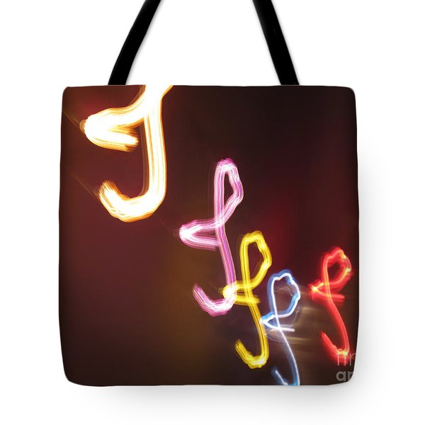 Tote Bag featuring the photograph It's I... I... And More Of I. Dancing Lights Series by Ausra Huntington nee Paulauskaite