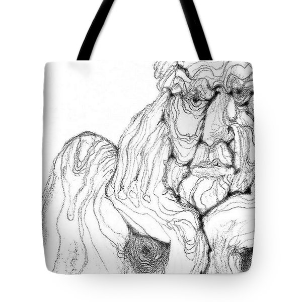 Tote Bag featuring the digital art It's In The Grain by Carol Jacobs