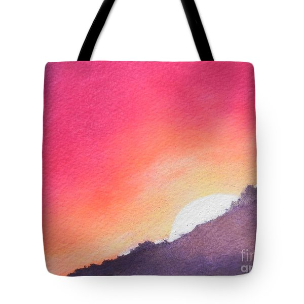 Tote Bag featuring the painting It's Not About The Climb  Rather What Awaits You On The Other Side by Chrisann Ellis