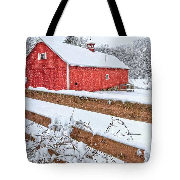 It's Snowing Tote Bag by Bill Wakeley