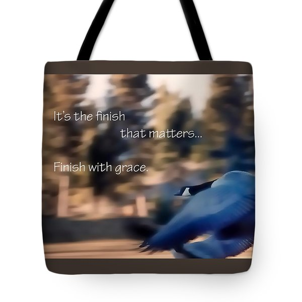 It's The Finish 21169 Tote Bag