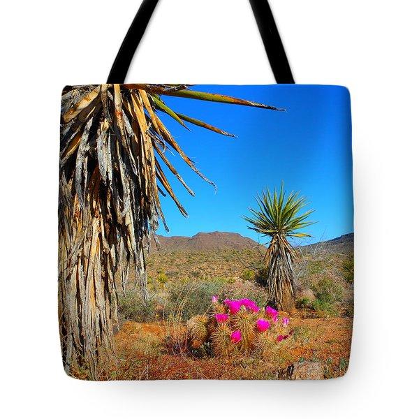 Pink In The Desert Tote Bag