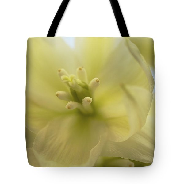 Tote Bag featuring the photograph Ivory Dream - Yucca Flower Art Print by Jane Eleanor Nicholas