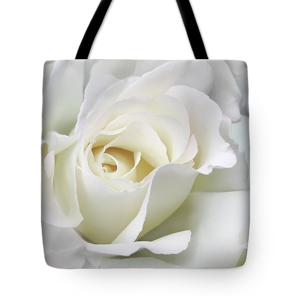 Ivory Rose Flower In The Clouds Tote Bag by Jennie Marie Schell
