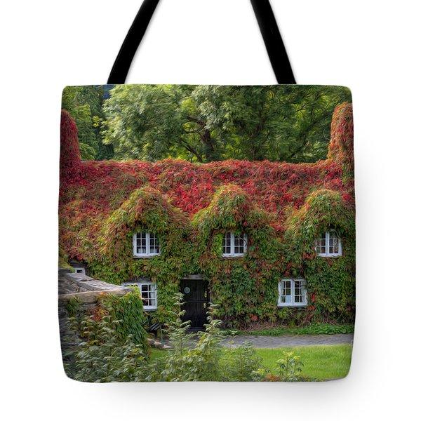 Ivy Cottage Tote Bag by Adrian Evans