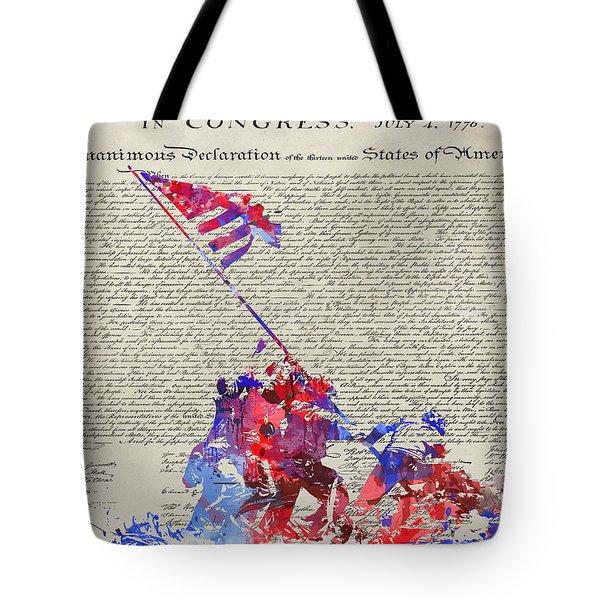 Iwo Jima Declaration Of Freedom Tote Bag