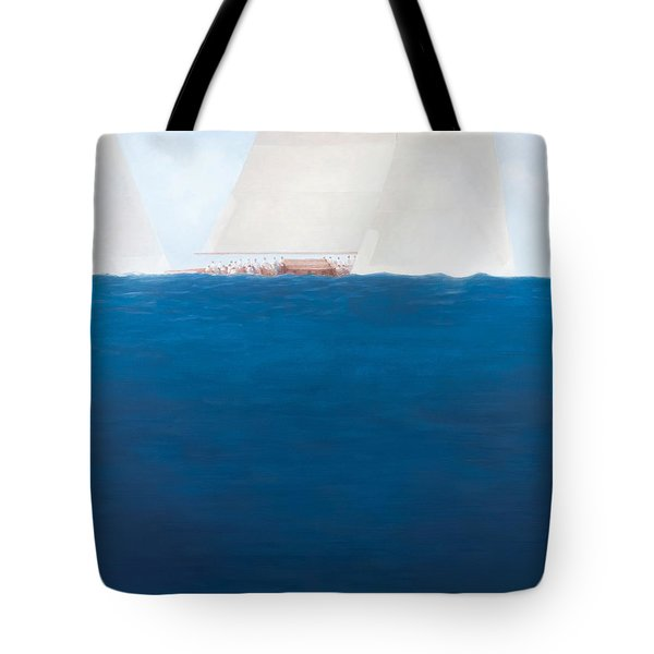 J Class Racing The Solent 2012  Tote Bag by Lincoln Seligman