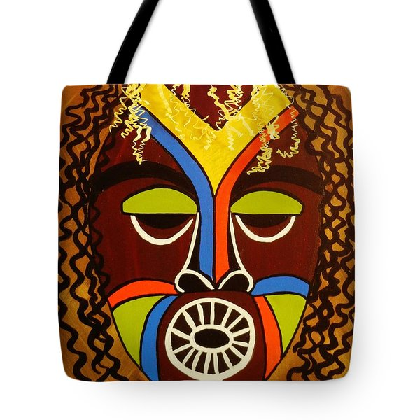 Tote Bag featuring the painting Jabari by Celeste Manning