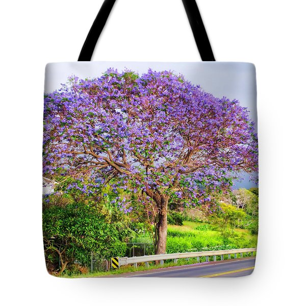 Jacaranda 4 Tote Bag by Dawn Eshelman