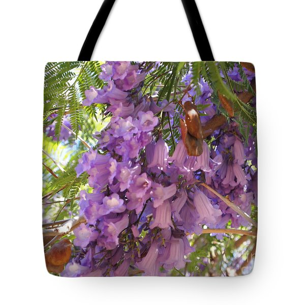Jacaranda Blossoms 2 Tote Bag by Nancy Kane Chapman