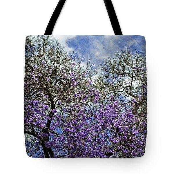 Jacaranda Tote Bag by Gwyn Newcombe