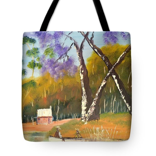 Tote Bag featuring the painting Jacaranda Tree by Pamela  Meredith