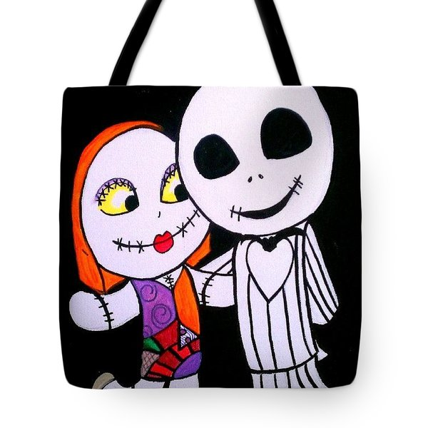 Jack And Sally Tote Bag by Marisela Mungia