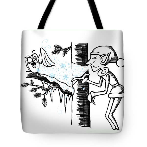 Jack Frost Holiday Card Tote Bag