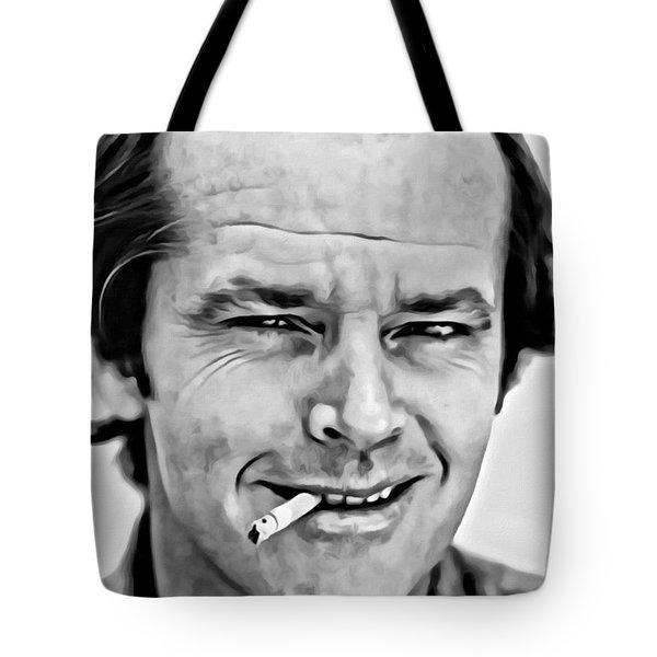 Jack Nicholson Tote Bag by Florian Rodarte