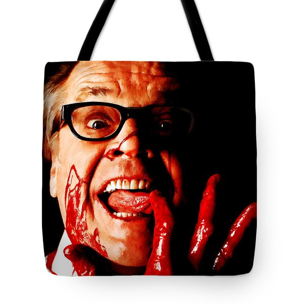 Jack Nicholson Painted From Photo Of Matthew Rolston Tote Bag