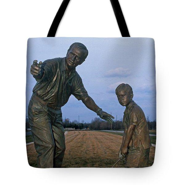 36u-245 Jack Nicklaus Sculpture Photo Tote Bag
