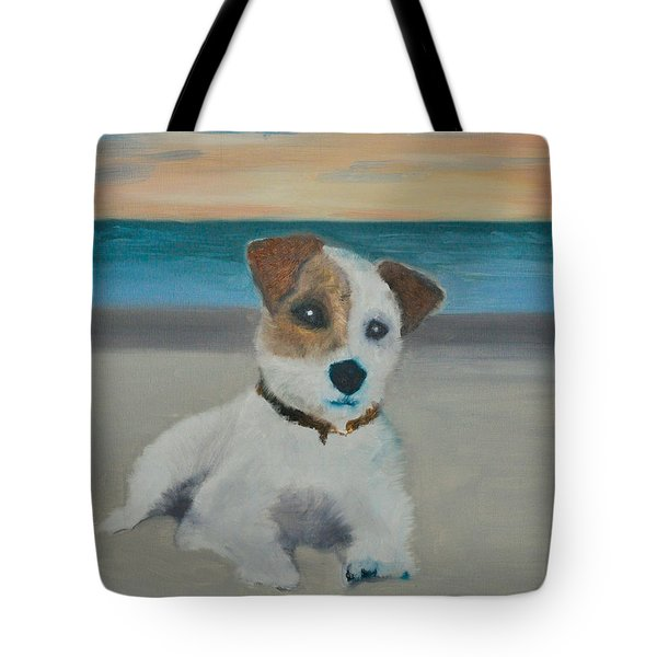 Jack On The Beach Tote Bag by Kristen R Kennedy
