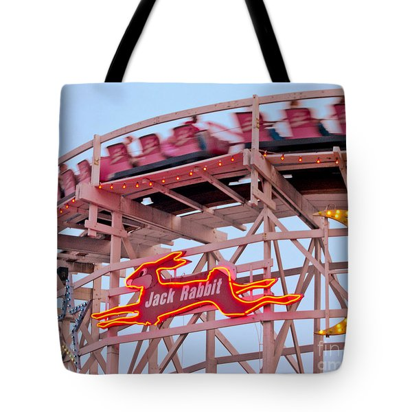 Jack Rabbit Coaster Kennywood Park Tote Bag by Jim Zahniser