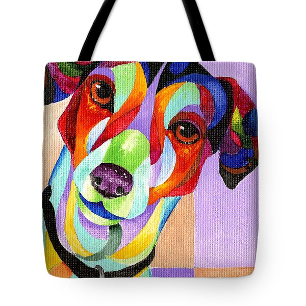 Jack Russell Terrier Tote Bag by Sherry Shipley