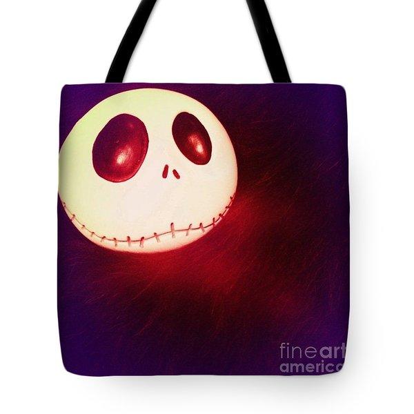 Jack Skellington Glowing Tote Bag
