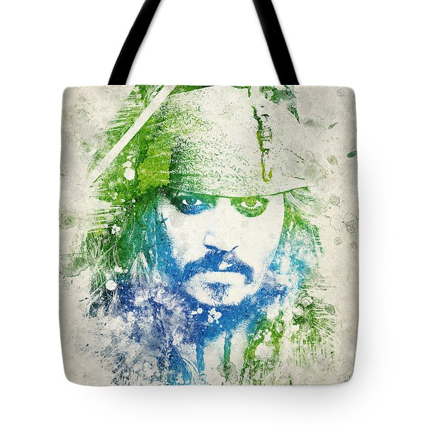Jack Sparrow Tote Bag by Aged Pixel