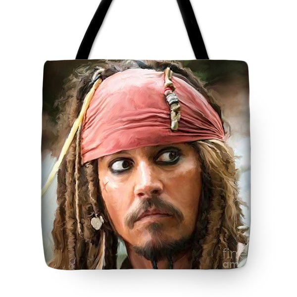 Jack Sparrow Tote Bag by Paul Tagliamonte