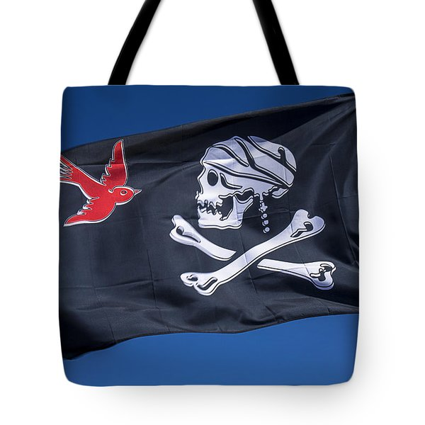 Jack Sparrow Pirate Skull Flag Tote Bag by Garry Gay