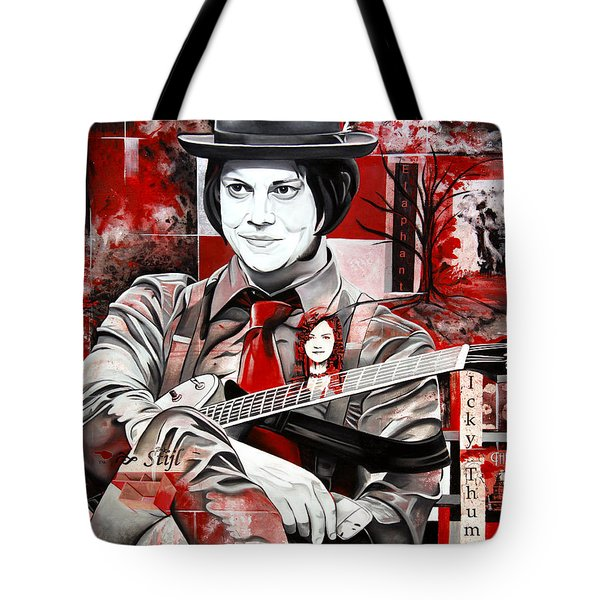 Tote Bag featuring the painting Jack White by Joshua Morton